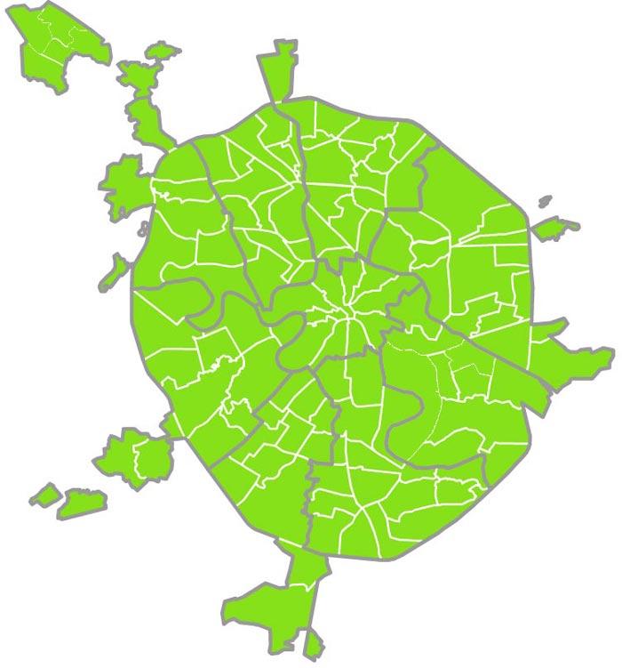 Онлайм карта покрытия